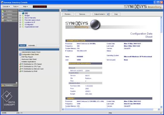 synexsys inventory